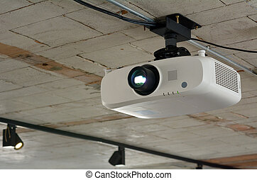 Video projector hanged on the celling