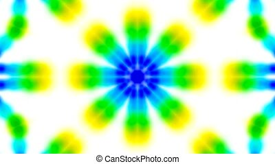 Animation of green flower texture