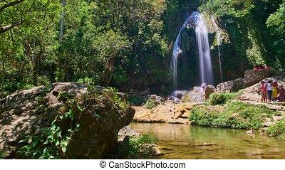Waterfall Soroa, Cuba,time lapse