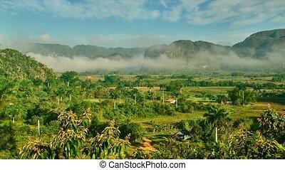 Vinales valley,Cuba,Time lapse