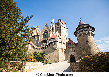 Old stronghold with towers - Old stronghold with strong...
