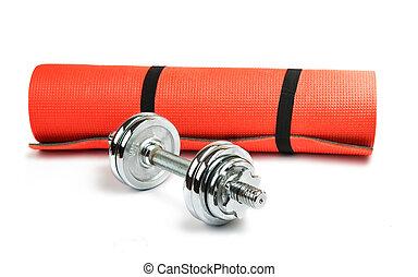 Hantlar, Matta,  fitness