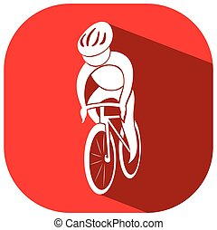 Sport icon for cycling