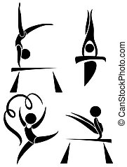 Olympics symbols for gymnastics