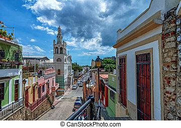 View of Santo Domingo streets - View of Santo Domingo,...