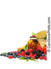混合, フルーツ, ビタミン, 隔離された