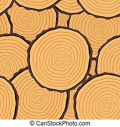 Cut log butt seamless pattern - Seamless Pattern with Tree...