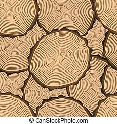 Cut log butt seamless pattern - Seamless Pattern with Tree...