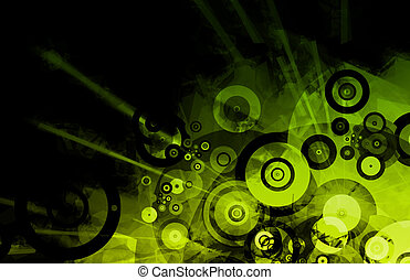 Music Inspired DJ Abstract Background