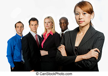 Group of Professionals - An attractive asian businesswoman...