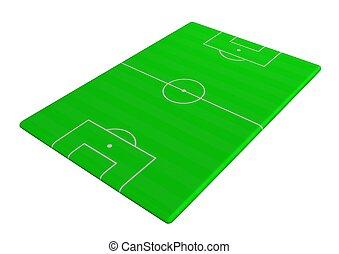 Soccer pitch angled