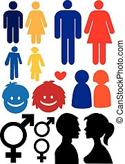 Man and woman relationship symbols