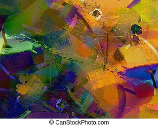 Painted abstract - Abstract painted grunge background