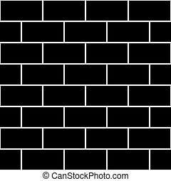 Black Brick Wall Seamless Background