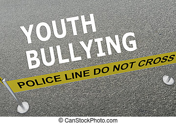 Youth Bullying police concept - Render illustration of...