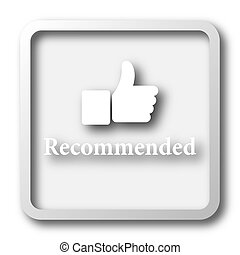 Recommended icon Internet button on white background