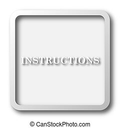Instructions icon. Internet button on white background.