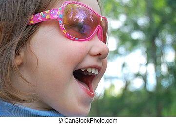Shout out - Portrait of shouting preschooler girl wearing...
