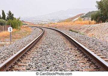 Train Rail Road - Photo Picture of a Classic Train Rail Road