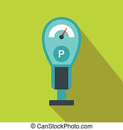 Parking meters icon in flat style