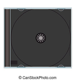 blank cd case black