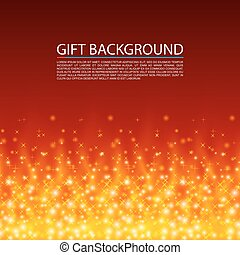 Gift background. Fire cover, Magic background, Vector illustration
