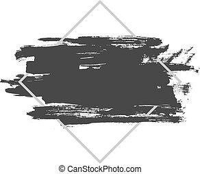 bg brush frame 17eps - Vector splash in a frame, hand drawn...