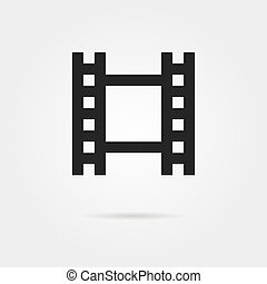 simple celluloid film black icon concept of footage, 35 mm...