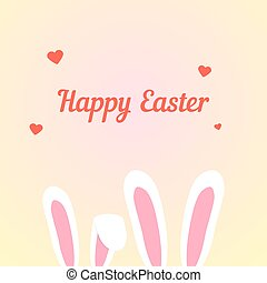 happy easter with love rabbits concept of catholic feast,...