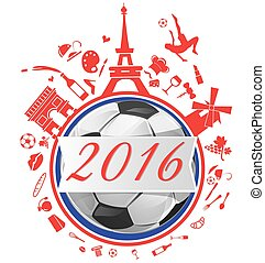 france background with flag and soccer ball