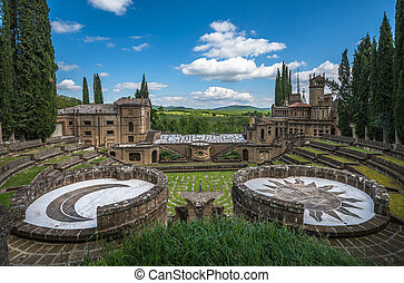 La Scarzuola, Tomaso Buzzi ideal city of Umbria, Italy
