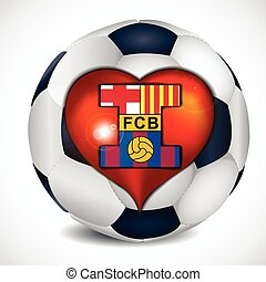 I love fc barcelona. Illustration 10 version