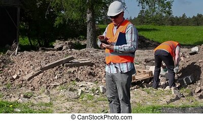 Builder using tablet PC