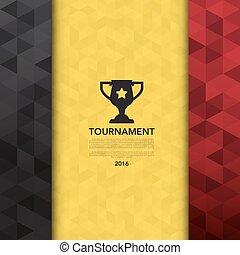 Soccer football tournament backgroundIllustration eps10