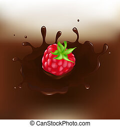 Chocolate-dipped Raspberry With Splash