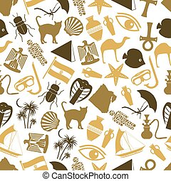 egypt country theme color icons seamless pattern eps10