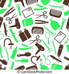 hair care theme color simple icons seamless pattern eps10