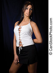 Sexy corporate - Twenty something fashion model in sexy...