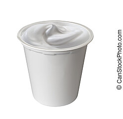 yogurt - industrial pack of milk cream or yogurt