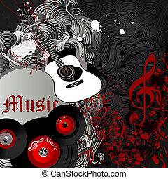 Music party flyer or banner with no - Vector background with...