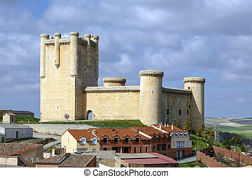 Castle Communards Torrelobaton in Valladolid, Spain....