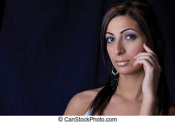Portrait of a woman - Head shot of a twenty something...
