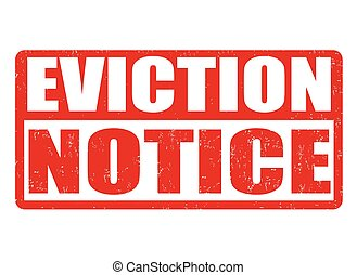 Eviction notice stamp - Eviction notice grunge rubber stamp...