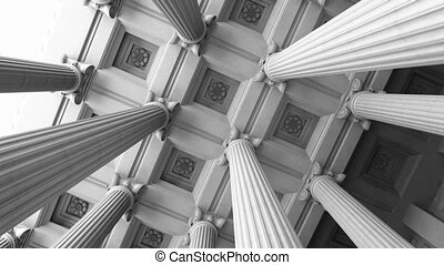 Marble Columns. Loopable 3D renderi - Classical architecture...