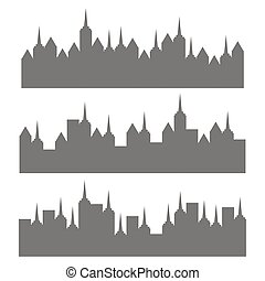office building silhouettes