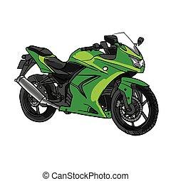 Vector Cartoon Motobike. Eps-10 isolated background