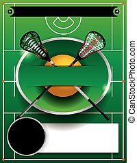Lacrosse Template Flyer - A flyer template for a lacrosse...