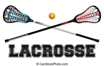Lacrosse Design Illustration - The word lacrosse with...
