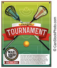 Lacrosse Tournament Flyer Template - A template for a...