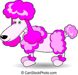 Cute Adorable Looking Poodle - Illustration of a cute...